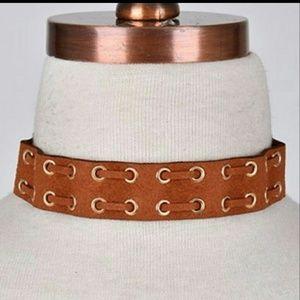 Jewelry - Tan Suede Choker